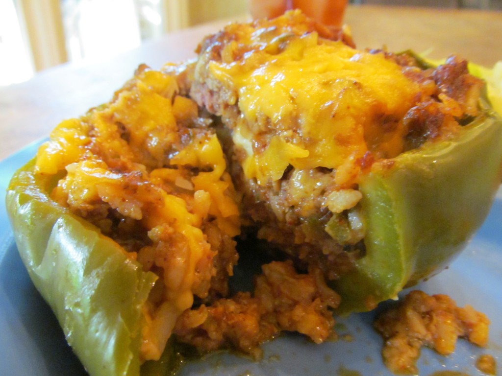 Tex-Mex stuffed peppers in the slow cooker