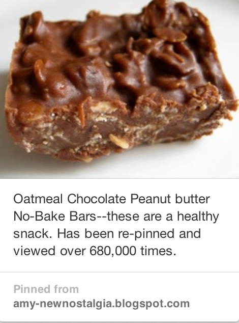 Oatmeal Chocolate Peanut Butter No-Bake Candy Bars ...