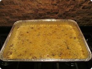 sausage & Gruyere grits casserole (make ahead)