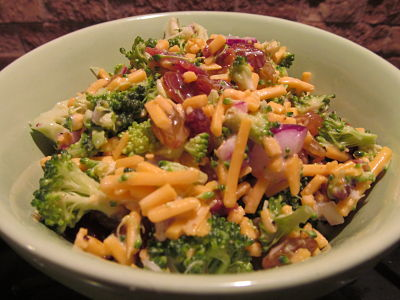 Broccoli, Raisin, And Bacon Salad