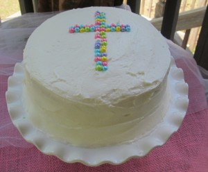 THE BEST White Cake With Buttercream Frosting