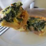Spinach, Gruyere & Bacon Quiche Tartlets