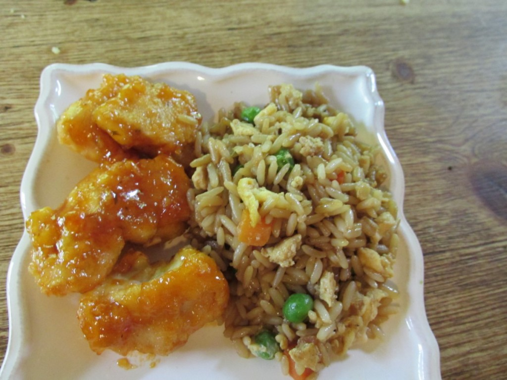 sweet sour chicken & fried rice
