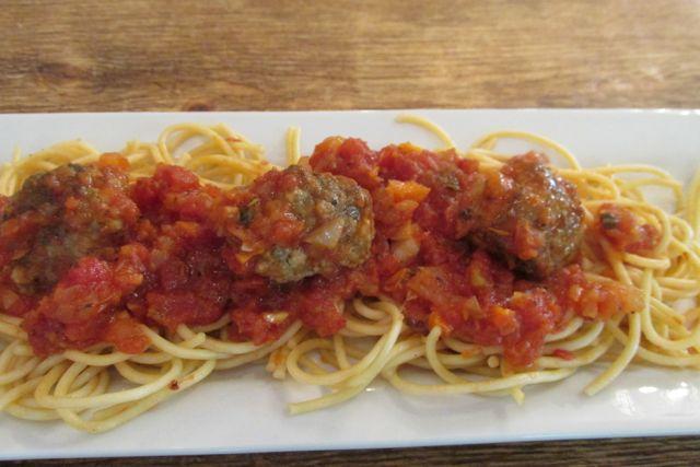 mozzarella stuffed Italian meatballs