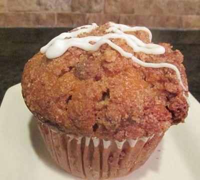 cinnamon streusel coffee cake muffin