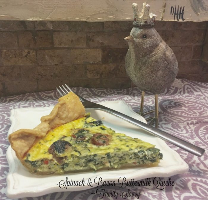 spinach & bacon buttermilk quiche