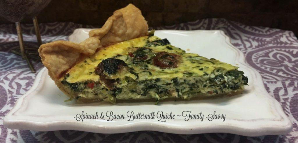 spinach & bacon buttermilk quiche