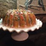 Funfetti Bundt Cake With Almond Glaze
