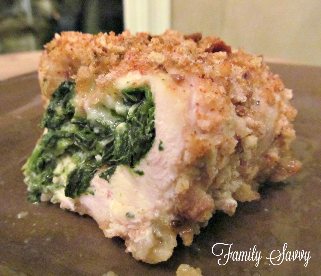 chicken, spinach & pepper-jack roulade
