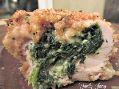 chicken, spinach & pepper jack roulade