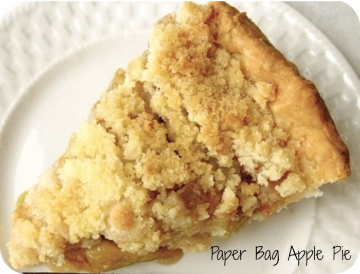 paper bag apple pie
