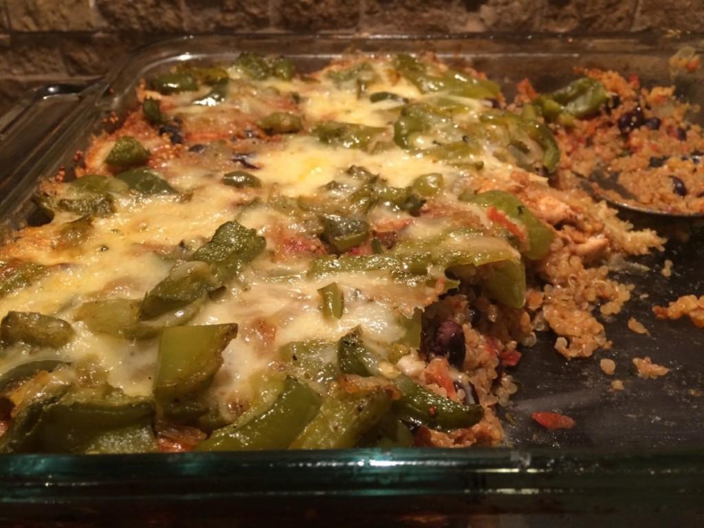 Tex-Mex Chicken Pepperjack Quinoa Casserole