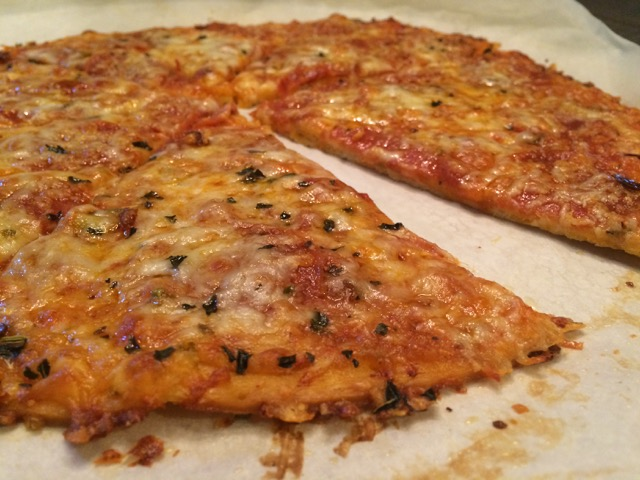 Pizzeria style thin crust pizza