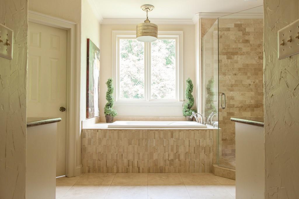 Master Bathroom Natural Stone natural stone in bathroom - tashmart matching chiseled round