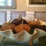 Velvet Pumpkin Centerpiece