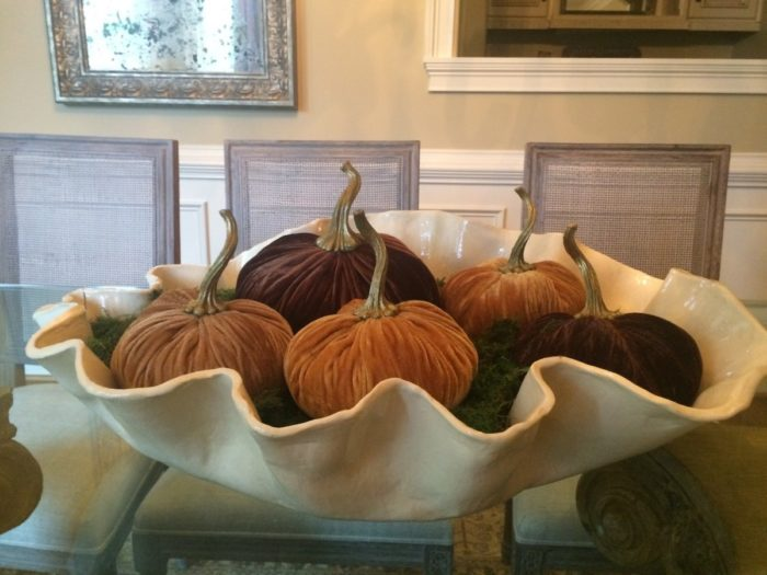 Velvet Pumpkin Centerpiece: Easy & Elegant Fall Decor