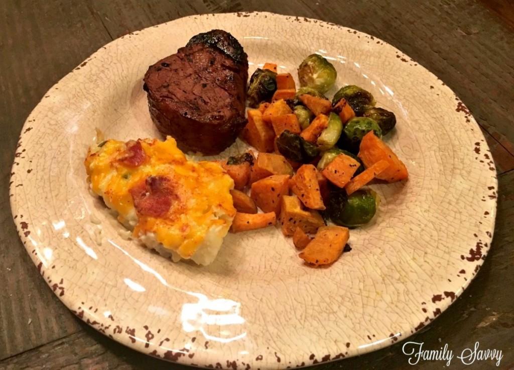 low carb steak dinner