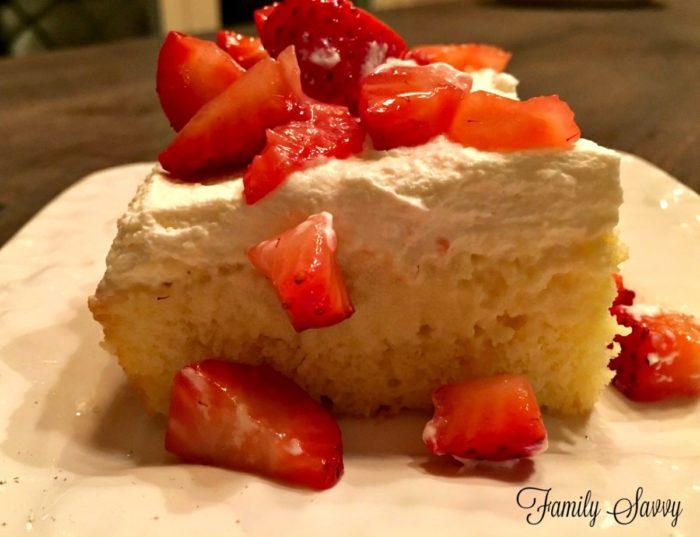 Tres Leches Strawberry Cake Mix