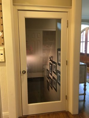 3 Step Stairwell Makeover Hardwood Glass Door Amp Photo