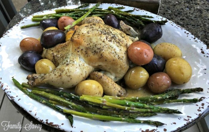 perfectly roasted whole chicken