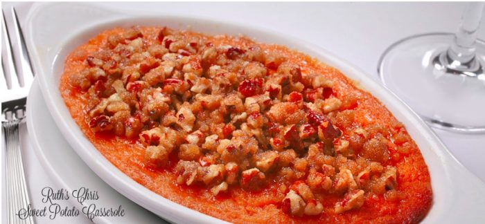 Ruth's Chris Steak House sweet potato casserole recipe