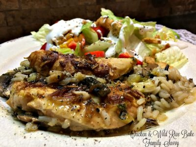 chicken & wild rice bake