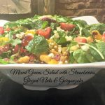 Mixed Greens Salad with Strawberries, Glazed Nuts