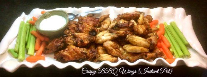 crispy BBQ wings Instant Pot
