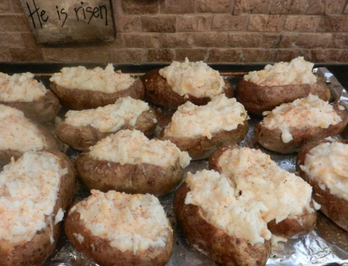 Twice-Baked Potatoes (Make Ahead)