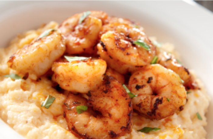 Cajun Shrimp with Cheddar Cheese Grits