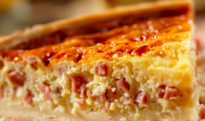 Easy Ham & Gruyere Quiche