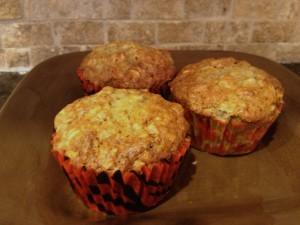 Oatmeal Banana Pecan Muffins