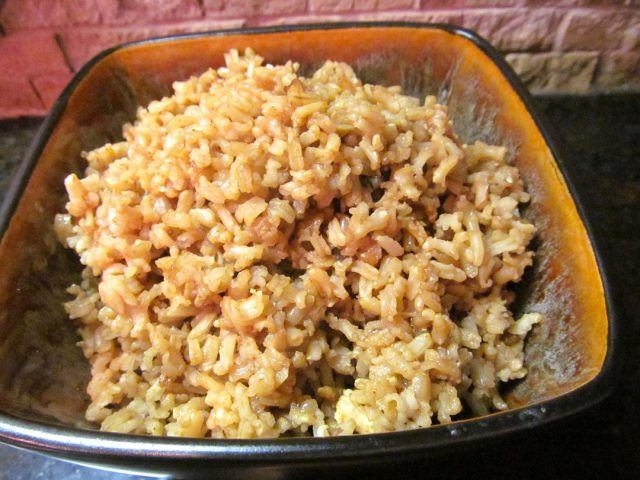 French onion brown rice Aroma rice cooker