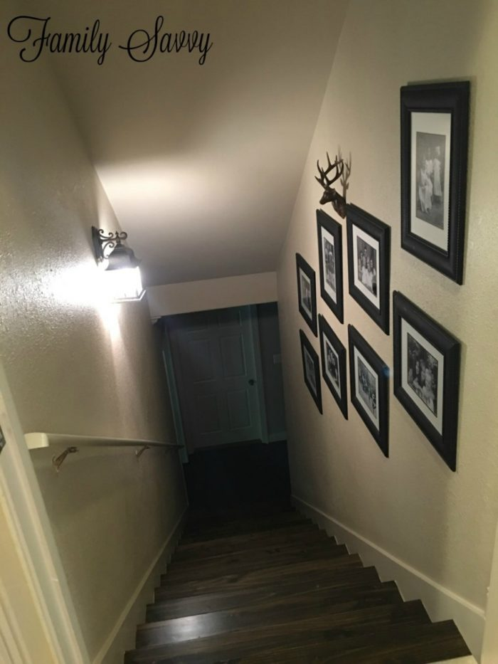 3-Step Stairwell Makeover: Hardwood, Glass Door & Photo Wall