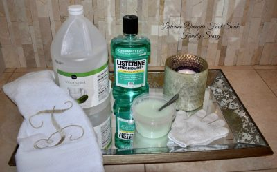 Listerine Vinegar Foot Soak