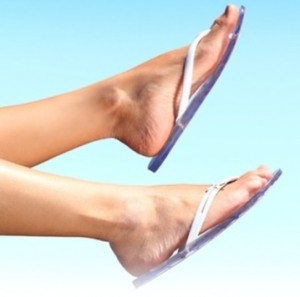 DIY pedicure for soft smooth feet