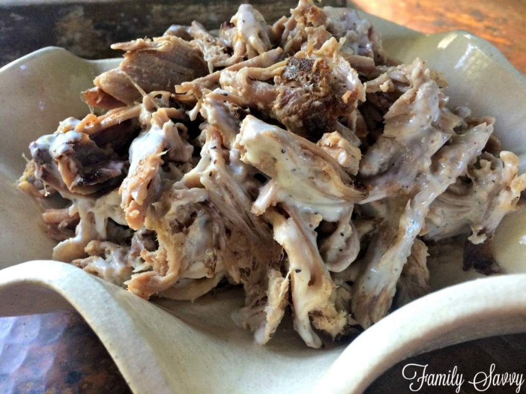 pulled pork with white sauce