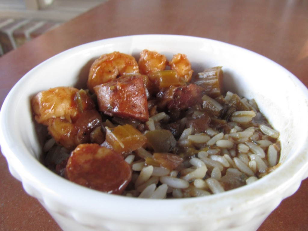 shrimp & sausage gumbo with shortcut roux