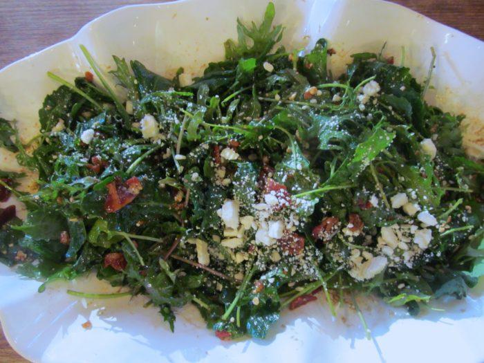 Baby Kale Salad With Honey Balsamic Vinaigrette