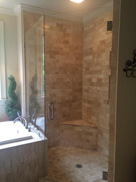 Dawn & Vinegar shower door cleaner