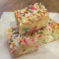 Funfetti Cake Mix Sugar Cookie Brownies