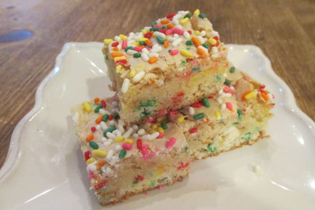 funfetti cake mix brownies