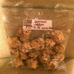 Toffee Oatmeal Cookie Dough (For The Freezer)