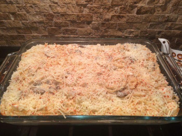 gourmet chicken spaghetti (tetrazzini)