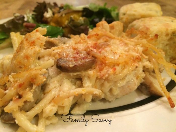 favorite chicken tetrazzini