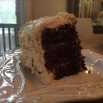 Decadent Chocolate Cake with Peanut Butter Frosting