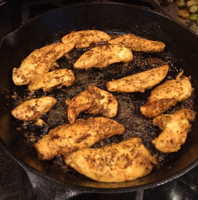 Skillet Blackened Chicken Tenders