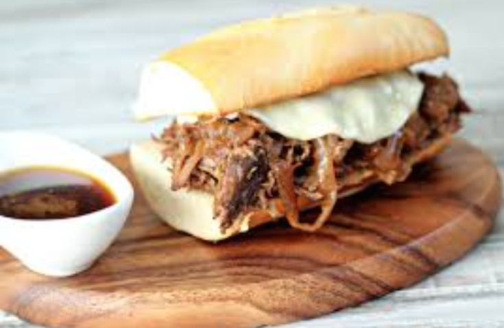 French Dip Beef Made in the Slow Cooker