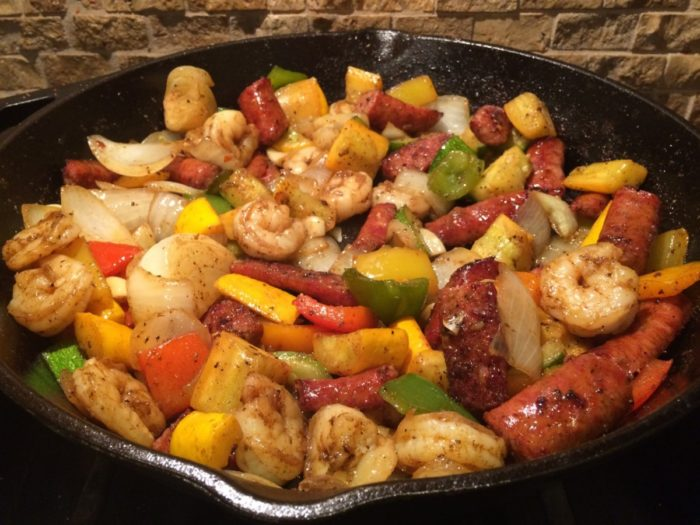 Spicy Shrimp & Sausage Skillet Meal {Paleo & Faster Way to Fat Loss}