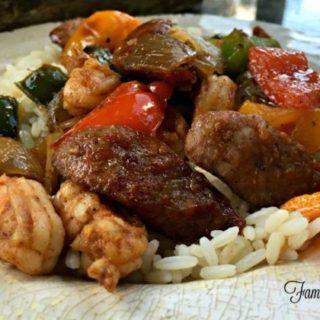 shrimp & sausage paleo skillet meal